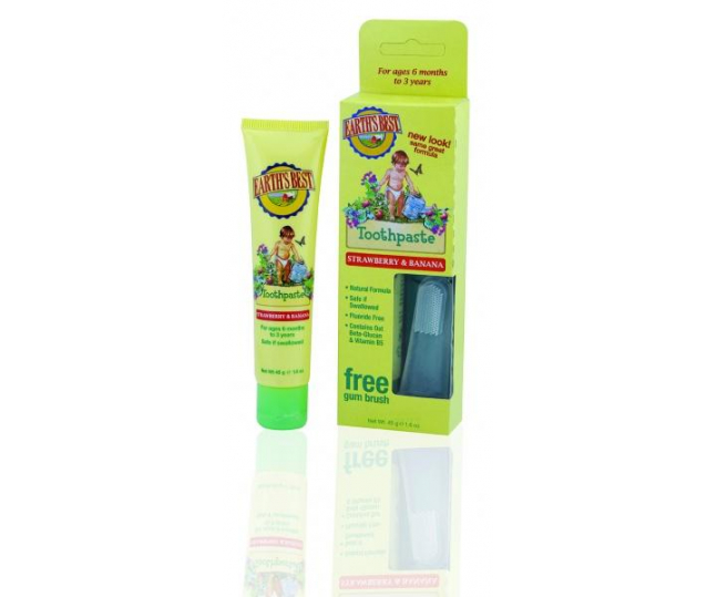Todder Toothpaste Strawberry and Banana  зубная паста Клубника и Банан 45гр