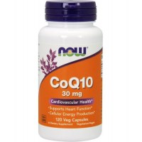 NOW CoQ10 30mg Коэнзим Q10 30мг 120 вег капс