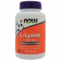 NOW L-Lysine 500mg L-лизин 100 капс