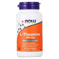 NOW L-Theanine 100mg L-тианин 90 вег капс