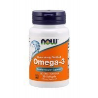 NOW Omega-3 1000mg Омега 3 1000мг 30 гел капс