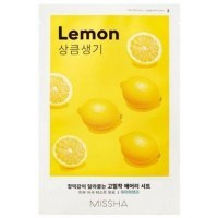 AIRY FIT SHEET MASK LEMON Маска для лица освежающая 1шт